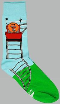 Bitcoin rollercoaster sock from MtSocks