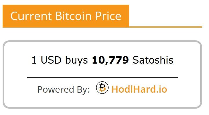 Bitcoin Satoshis To Usd Converter Plugin Hodlhard Io