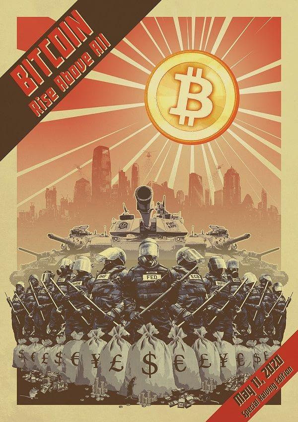 CryptoRags Constructivist Bitcoin Art