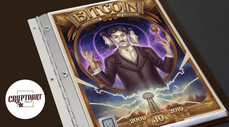 Cryptoart art and Bitcoin cold wallet