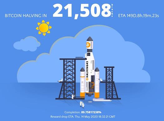 the halvening bitcoin halving countdown clock