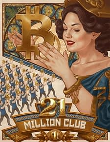 Cryptoart sold out edition 21 million club