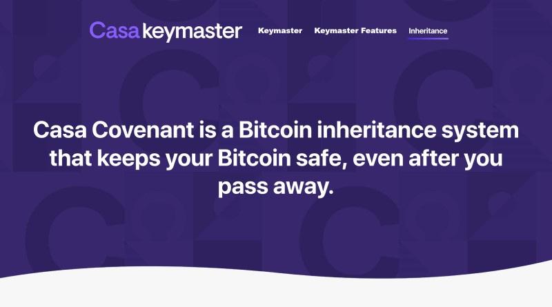 casa covenant bitcoin inheritance program